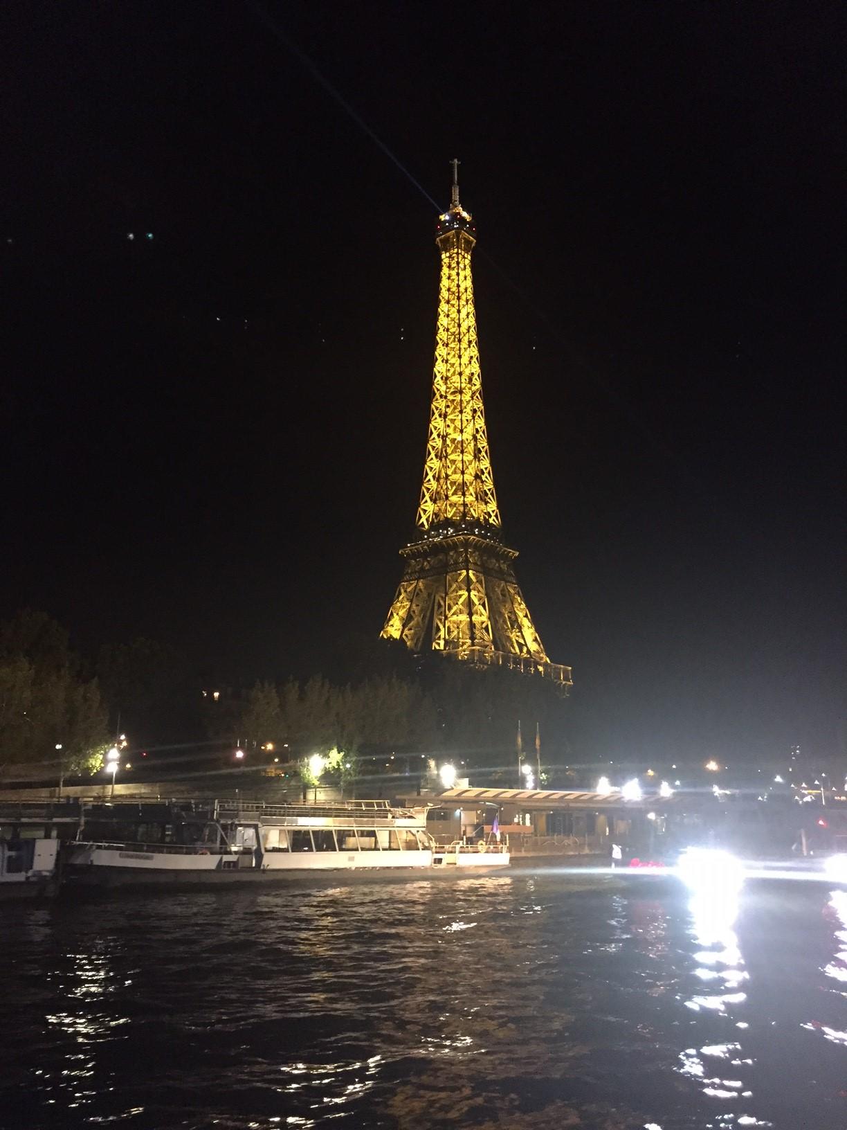 Bateau à paris sur les bords de Seine